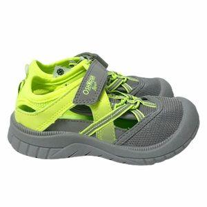NWT Oshkosh yellow/gray sandals